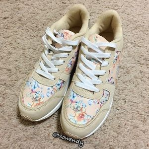 Charlotte Russe Floral Sneaker Shoes